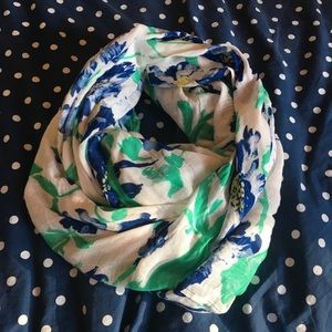 Like New Floral Infinity Scarf
